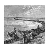A Trail in the Great Plains  Illustration from 'Harper's Weekly'  1874  from 'The Pageant of…