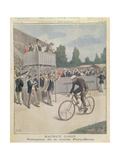 Maurice Garin (1871-1957) Champion of the Paris-Brest Race  from 'Le Petit