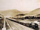 Pennsylvania Railroad Train Cars Loaded with Coal  1931