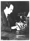 George Gershwin (1898-1937) American Composer  at the Piano  c1935