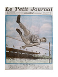 Record High Jump at the 8th Olympic Games  Paris  1924  Cover Illustration