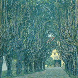 Avenue in the Park of Schloss Kammer  1912
