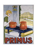 Poster Advertising the Primus Hob  Printed by Dampenon and Elarue