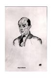 A Portrait of Arnold Schonberg (1874-1951) 1917