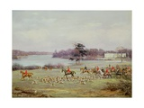 The South Cheshire Hunt in Combermere Park  1904