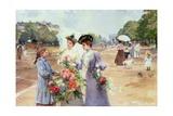 Spring Morning  Avenue Du Bois de Boulogne  1902