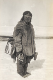Caribou Eskimo Wearing Snow Glasses Made of Wood  Canada  1921-24