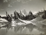 Ice-Needles and Pyramids of the Lower Remo Glacier  Kashmir  1st January 1915