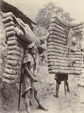 Men Carrying Tea Bricks for Tibet  30th July 1908