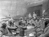 Troops Dining at the Chauffour Quarry  c1916
