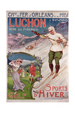 Poster Advertising the Resort of 'Luchon' with the 'Chemins de Fer d'Orleans'  1908