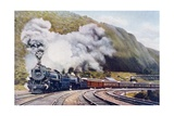The 'Pacific' of the New York Chicago Express  Illustration from 'The Wonder Book of Railways' …