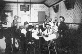 Playing Cards in a Western Saloon  c1900