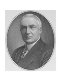 Portrait of Warren Harding (1865-1923) 29th President of the United States of America