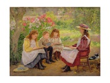 Lesson in the Garden  1900