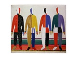 Sportsmen, or Suprematism in Sportsmen's Contours, 1928-32 Giclée par Kasimir Malevich