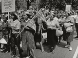 The March on Washington: Ladies Garment Workers' Union Marching on Constitution Avenue  28th…