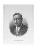Portrait of Woodrow Wilson (1856-1924) 28th President of the United States of America