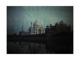 A View of the Taj Mahal on the Jumna River at Sunset  Agra  India  1923
