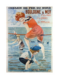 Poster Advertising the Seaside Resort of Boulogne Sur Mer  1905