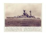 The Battleship  'Royal Oak'  from 'The Illustrated War News'  Published 1st November 1939