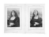 La Belle Otero and Mistinguett as the Mona Lisa  from an Article 'Les Sourires Qui Nous Restent'…