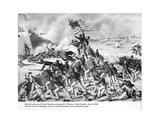 54th Massachusetts Colored Regiment Charging Fort Wagner  South Carolina  18th July 1863  Printed…