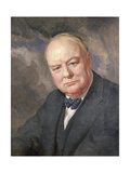 Portrait of Winston Churchill