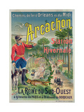 Poster Advertising the Seaside Resort of Arcachon  c1910