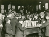 Trading at the Cash Tables Wheat Pit  Chicago  1931
