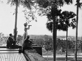 Shwe Dagon  the Pilgrim's Rest (A European Traveller Looks Out with a Telescope) Burma  c1900-10