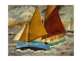 Yacht Race at Portscato  Cornwall  1928