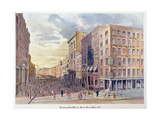 Looking Down Broad Street from Wall in 1873  Illustration from 'Old New York  Yesterday and Today…