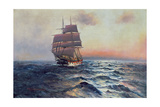 Sailing Ship at Sea  c1910