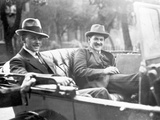 Michael Collins (1890-1922) with Emmet Dalton During the Treaty Discussions in London  1921