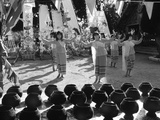 Dancers Accompanying the Offerings to a Monastery in Northern Thailand  1980
