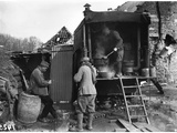 Serving Soup to the Soldiers in the Kitchen Lorry  1914-18