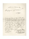 Letter from d'Artagnan to Louvois Concerning a Military Matter  Dated 1672  from 'Memoires de…
