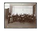 Men from the Barrere Ensemble Orchestra with Wind Instruments  1910