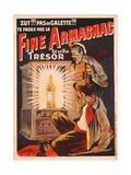 'Zut!!! Pas de Galette!!! Te Fache Pas La Fine Armagnac  Est Une Vrai Tresor'  Poster Advertising…