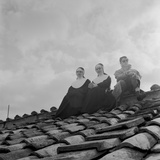 People on a Rooftop Awaiting the Coronation of Pope John XXIII  Vatican City  4th November 1958