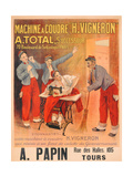 """Machine a Coudre """"H Vigneron""""'  Poster Advertising Sewing Machines  c1902"""