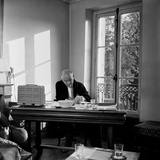 The Writer and Poet Blaise Cendrars in His House  October 1957