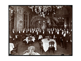 Waiters in the Palm Court at Sherry's Restaurant  New York  1902
