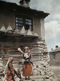 Islamic Bulgarian Pomak Peasant Women Spinning Wool Yarn  Bulgaria  1932
