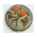 Illustration of What a Dinosaur Embryo May Have Looked Like  1998