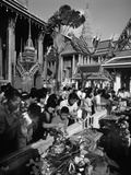 Worshippers at the Temple of the Emerald Buddha  1980