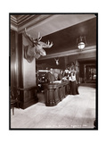 The Lobby and Registration Desk at the Park Avenue Hotel  1901 or 1902