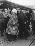 Mr and Mrs Bleriot after the Former Had Flown the Channel  1910