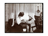 Mrs Leslie Carter Seated with a Woman Reading a Crystal Ball  1904